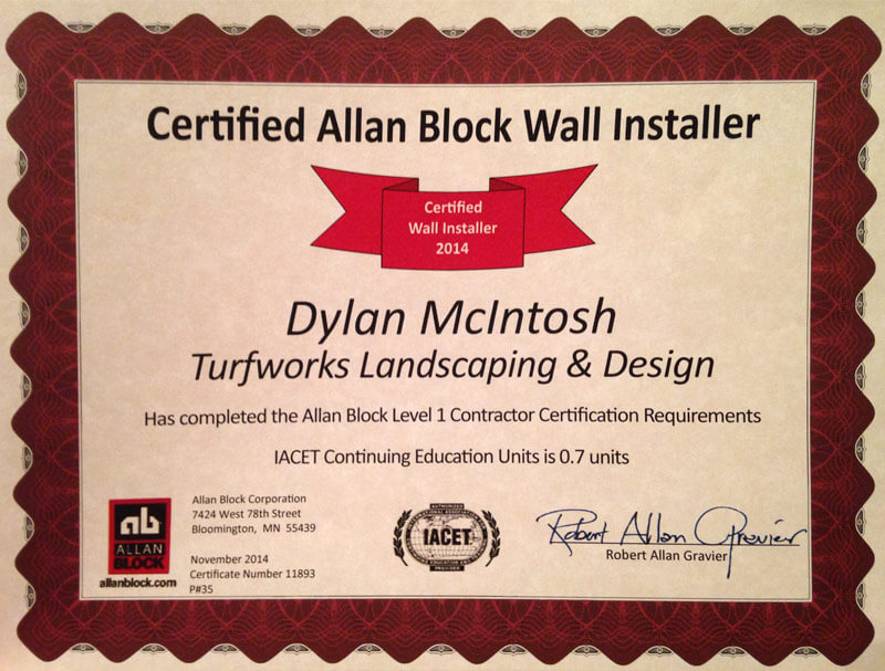 Certifications Turfworks Landscaping And Design Fredericton Nb